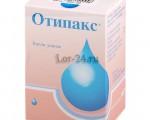 Отипакс (Otipax) — инструкция по применению, побочные эффекты, форма выпуска и цена препарата
