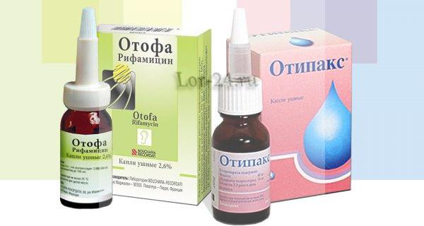 Лекарственные препараты от боли в ухе